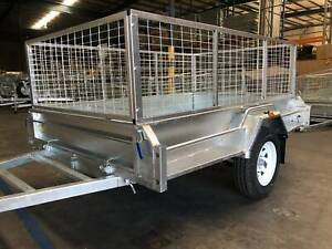 "SALE ""STONEGATE"" 8x5 Caged Box Trailer For Sale 750KG ATM Garden Coopers Plains Brisbane South West Preview"