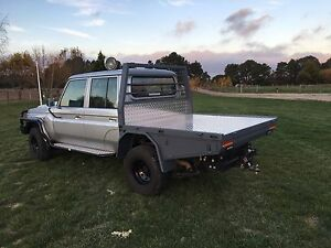 Landcruiser 79 dual cab custom steel tray Ballarat North Ballarat City Preview