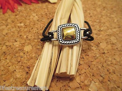 BRIGHTON Silver & Gold Tone Ponytail Holder Bracelet Hair Jewelry Accessory NWOT