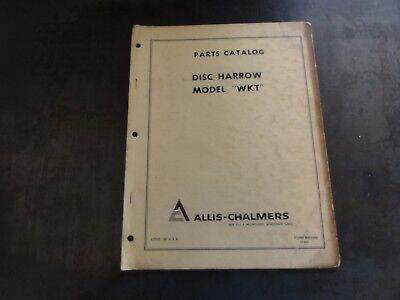 Allis-chalmers Model Wkt Disc Harrow Parts Catalog Manual
