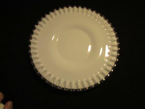 """FENTON SILVERCREST WHITE MILK GLASS 10"""" RUFFLED CAKE PLATE SERVING PLATTER LARGE"""