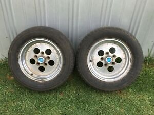 Pair of 13x6 5/108 PCD Dragway Indy wheels. EJ EH HR HD HOLDEN LC LJ