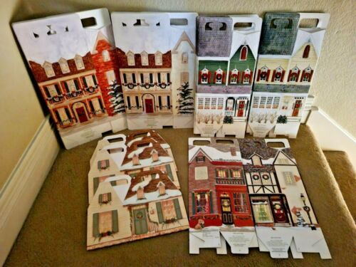 Byers Choice LOT/16 New Village Gift Boxes Storage Display Accessory Single Dble