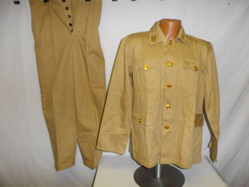 U3B-136 WW 2 National Chinese KMT Lt General Army Summer Tan Cotton uniform