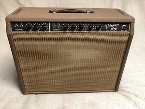 1962 Brownface Vibrolux Amp Fender New Jensen Alnico 90% Original Vintage Brown