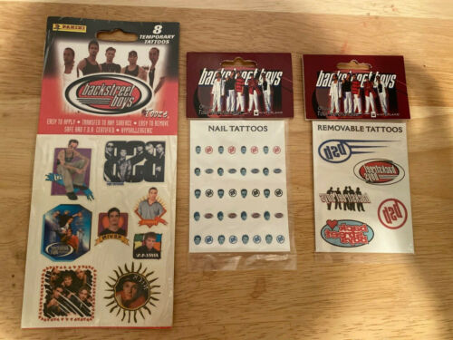 Backstreet Boys Temporary Tattoos Tooze winterland nail art set lot x 3 New tour