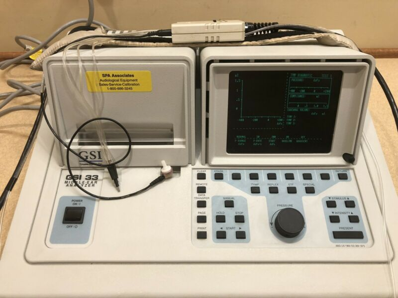 GSI 33  Middle Ear Analyzer w/ NEW Calibration Certificate