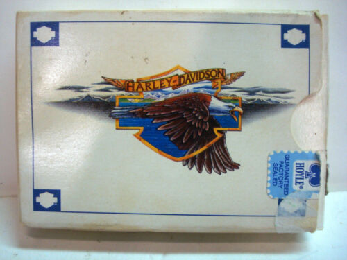 Harley Davidson HD Motorcycle Bike Eagle Hoyle Playing Card Complete Vintage HTF