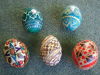 REAL Chicken Eggs - Blown, Hand Painted and Individually Decorated Hens Eggs.