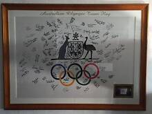SIGNED SYDNEY 2000 OLYMPIC FLAG - FRAMED West Perth Perth City Preview