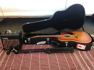 Art Lutherie E Acoustic Guitar, Vox Combo Amp, Mic Stand Perth Perth City Area Preview