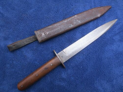 ORIGINAL WW1 AUSTRO-HUNGARIAN TRENCH FIGHTING KNIFE AND SCABBARD