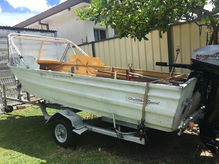 Quintrex 12ft special, one owner, 1978. 15hp Mariner 2000 mod 8hr