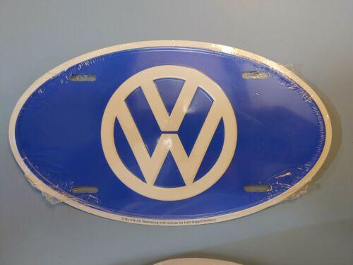 NEW Volkswagen VW Logo Car Automobile Van Front Vanity Oval Metal License Plate