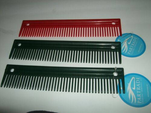 """Partrade Plastic Grooming Comb You Choose Color Approx. Size 8 3/4"""" x 1 3/4"""""""