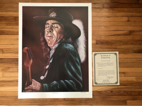 Stevie Ray Vaughan Limited Print RARE