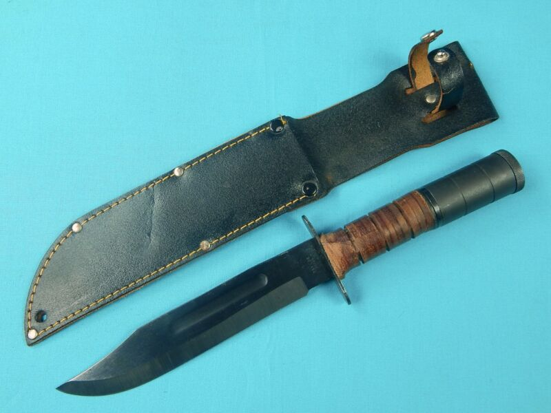 Vintage Vietnam Era Taylor Japan Japanese MK2 Survival Fighting Knife w/ Sheath