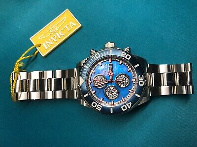Invicta Reserve Elite Pro Diver Swiss Valjoux 7750 .81ctw Diamond Blue Watch