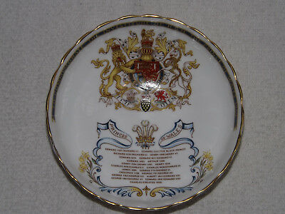 AYNSLEY COMMEMORATIVE PRINCE OF WALES INVESTITURE PEDESTAL DISH 1969