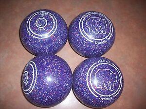 Aero DYNAMIC Lawn Bowls Size 4H WB23 Plain Grips Purple Speckle Surfers Paradise Gold Coast City Preview