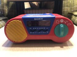 "Vintage Sony "" My First Sony "" Radio AM/FM Alarm Clock Tested And Works"