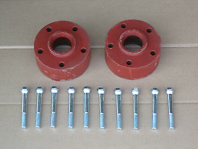 2 2.5 Steel Rear Wheel Spacers For Ih International 154 Cub Lo-boy 184 185