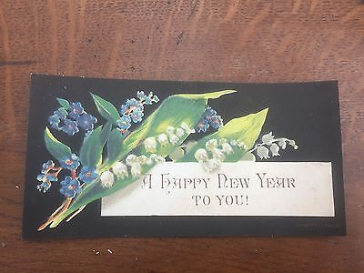 victorian 1880s new year card !