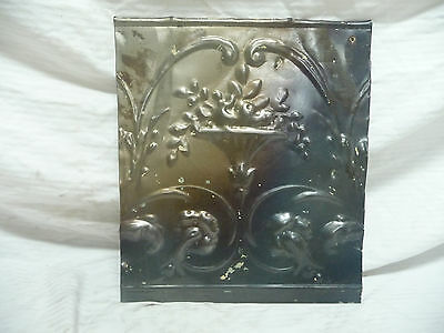 "12"" x 15"" Antique Tin Ceiling Tile - Virgin Metal Rare Architectural Salvage"