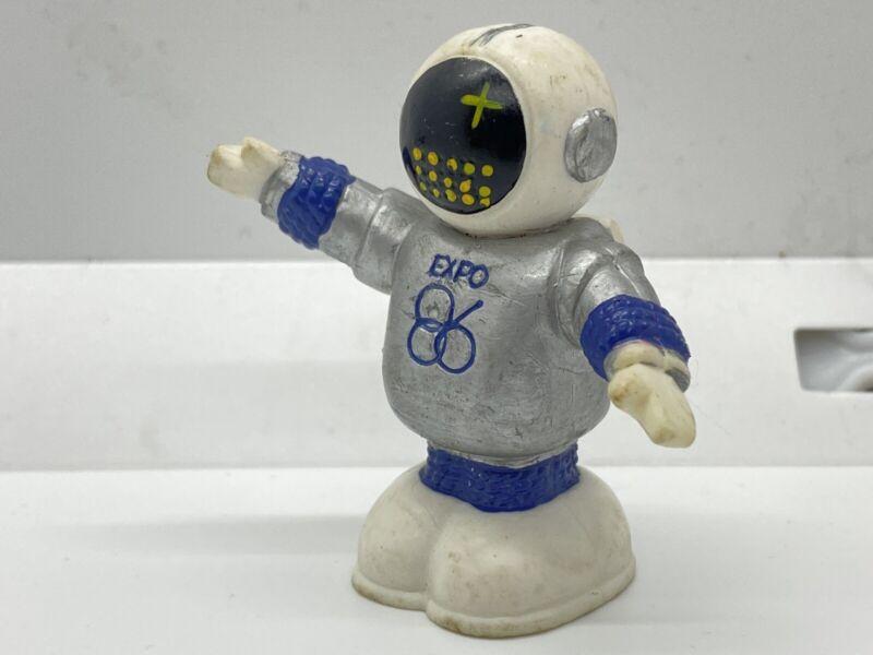 RARE Vintage 1983 EXPO 86 Ernie Robot Toy Figure Hong Kong Vancouver Canada s7