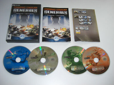 COMMAND AND & CONQUER C&C GENERALS DELUXE Pc Cd Rom Inc ZERO HOUR Expansion (Command And Conquer Generals Zero Hour Strategy)