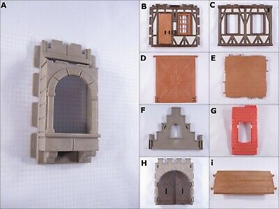 PLAYMOBIL VINTAGE 3666 CASTLE ARCH WALL WINDOW DOOR FLOOR ROOF GABLE - Palace Floor