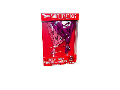 Sweet Heart Pops Chocolate Covered Strawberry Marshmallow Set Of 2  391815