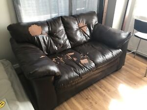 Faux leather love seat. Make an offer : )