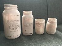 Mason jars -blush and clear