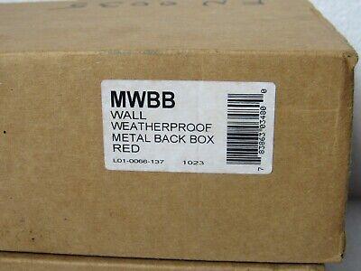System Sensor Red Wall Mount Metal Weatherproof Back Box Mwbb Ctno