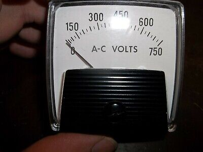 Yokogawa Ye250244pzsm Voltmeter Panel Meter 0-750 Vac Dr3e3