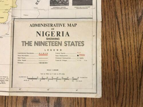 Vintage Administrative Map Of Nigeria design print BIMBO & CO LLC LAGOS NIGERIA
