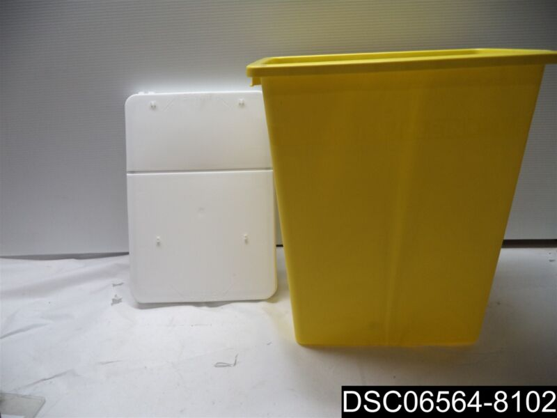 Qty= 4: Covidien Chemotherapy Sharps Container 8985 SharpSafety 8 Gal. YLW Base