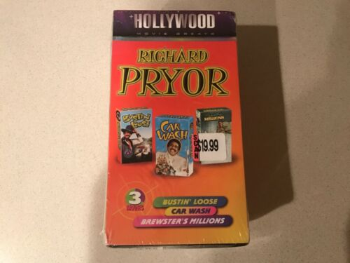 Richard Pryor 3 Movie Box Set (VHS, 1997) GoodTimes Home Video
