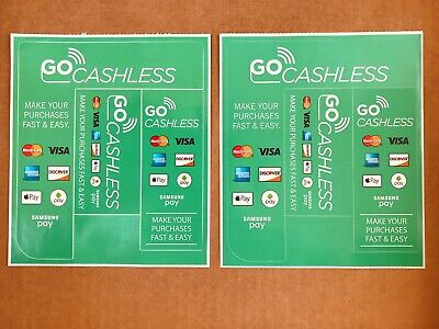 Credit Card Mastercard Visa Decal Vending Machine National American Products X2