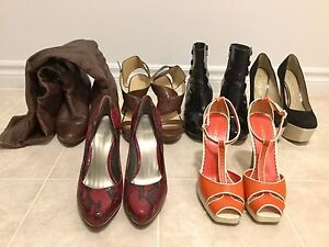 Well-loved leather shoes: ALDO, Nine West, Franco Sarto & bebe