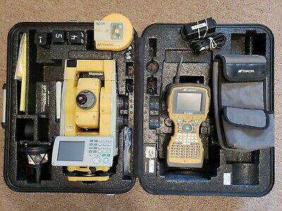 Topcon Gpt-9005a Robotic Total Station W Fc-2500 Data Collector