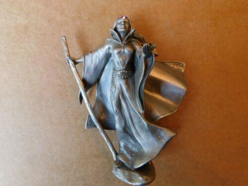 "Unique 4""+ Sorceress/Goddess/Enchantress Hudson Fine Pewter #3908 - 1986"