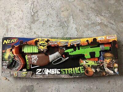NERF ZOMBIE STRIKE SlingFire Blaster Toy Gun. New in Package Walking Dead