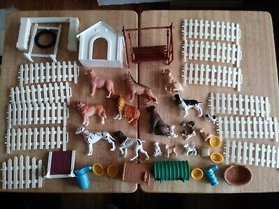 Huge Lot of New Ray My Best Friend Puppy Dogs, Play Sets Furniture & Accessories