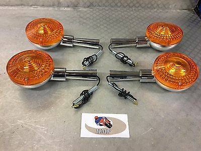 <em>YAMAHA</em>  XS500 SET OF QUALITY CHROMED METAL INDICATORS NEW 1975   1978