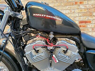 Red Black Cloth 04-06 Harley 883 1200 Sportster Replacement Spark plug wires