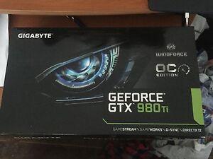 Gigabyte GeForce GTX 980 Ti oc wind force graphics card Campbelltown Campbelltown Area Preview