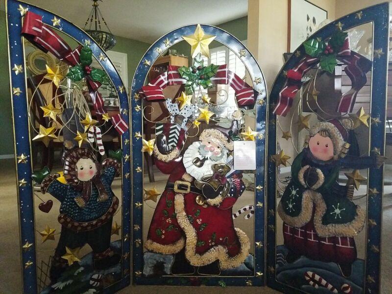 GRANDEUR NOEL Santa Christmas  Decorative Divider Holiday Backdrop Fireplace
