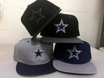 Dallas Cowboys Snap Back Cap Hat DAL Embroidered Adjustable Flat Bill Men